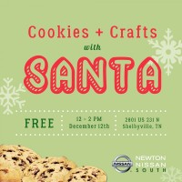 Cookies + Crafts with Santa